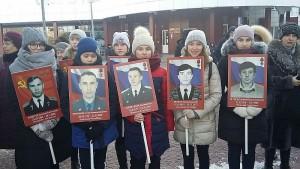 Григорьева Наталья участница шествия бессмертного батальона в г.Тюмени